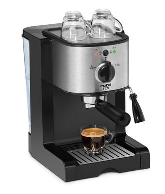 Espresso coffee machine with adapter for ground coffee, pods and capsules