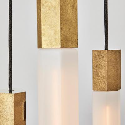 tala Basalt Ceiling Light Set of 3 Brass