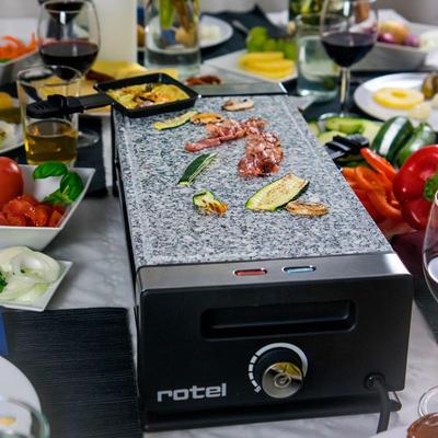 rotel Raclette/Tischgrill mit Natursteinplatte