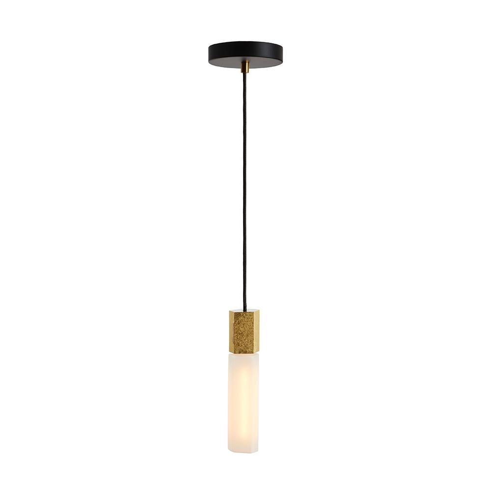 tala Basalt Ceiling Light Single bulb brass